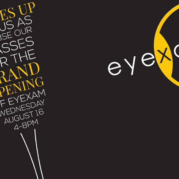 eyeXam Grand Opening Marketing Material Designs
