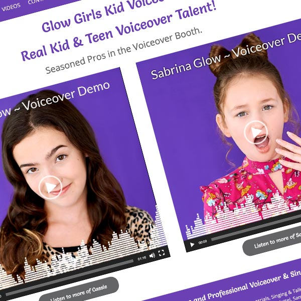 Glow Girls Kid Voiceover Responsive Wordpress Design