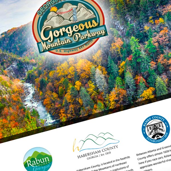 Responsive Wordpress Design for gorgeousmountainparkway.com