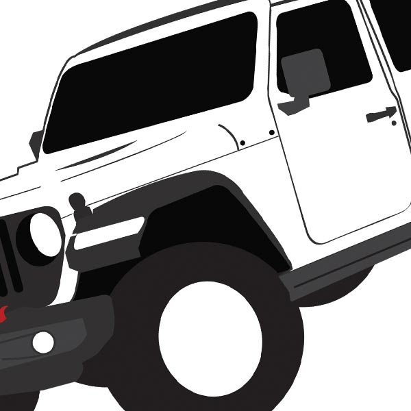 Jeep Illustrations (originally created for KB Voiceovers)