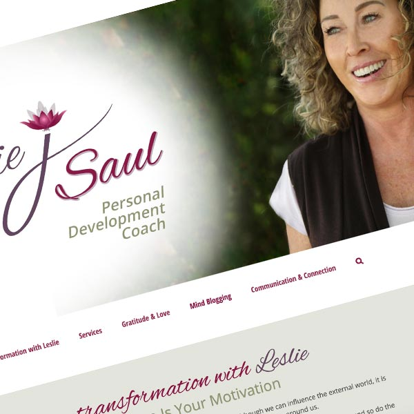 Responsive Wordpress Web Design and Rebranding for lesliejsaul.com