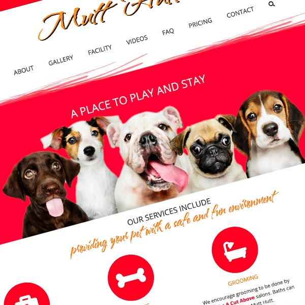 Responsive Wordpress Design for mutthutt.nyc