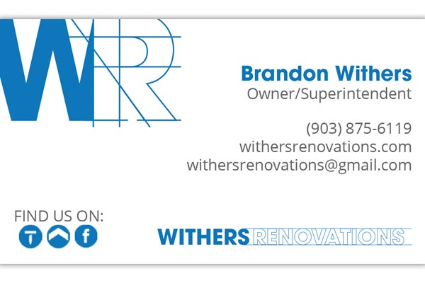 Withers Renovations Rebranding After