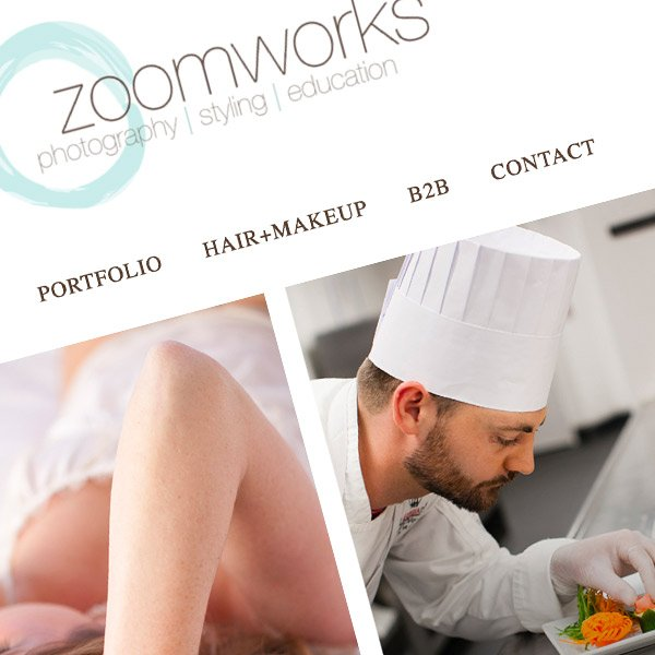 Zoom Works Photography Responsive Wordpress Website Design