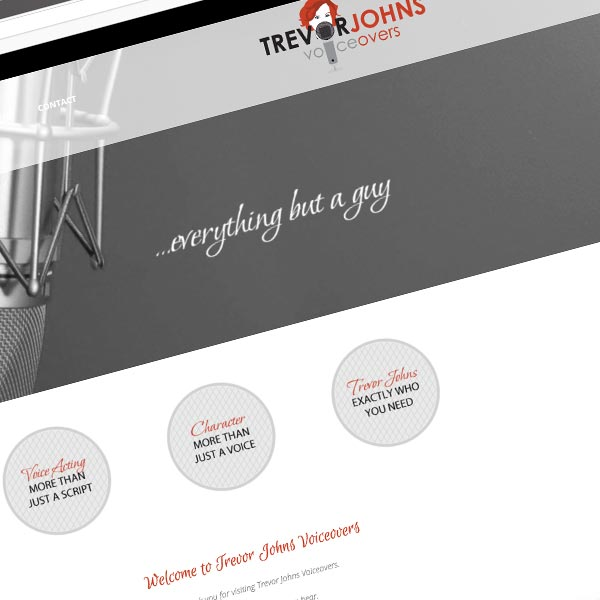 Responsive Wordpress Design for trevorjohnsvoiceovers.com